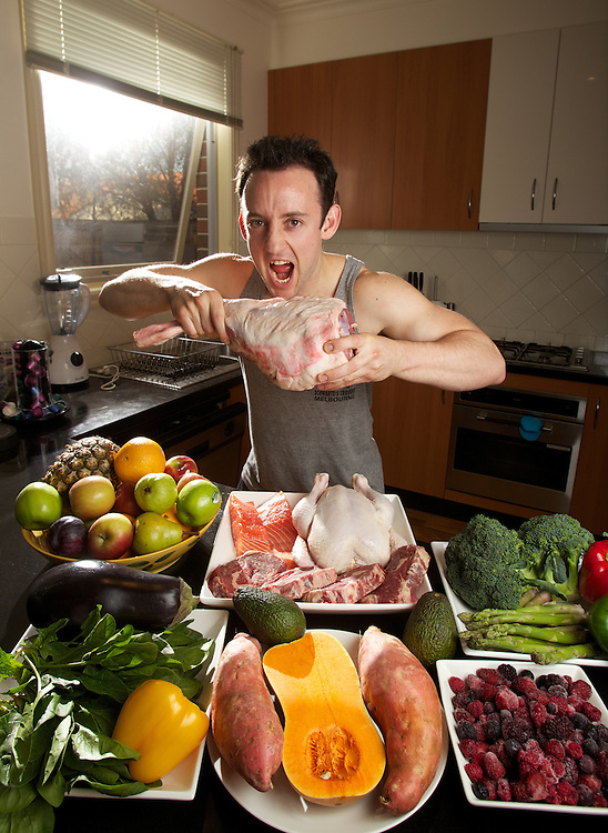 Nick Karp is a personal trainer whose fitness and eating regime is based around what the cavemen ate. Pic By Craig Sillitoe CSZ/The Sunday Age.11/05/2012 melbourne photographers, commercial photographers, industrial photographers, corporate photographer, architectural photographers, This photograph can be used for non commercial uses with attribution. Credit: Craig Sillitoe Photography / http://www.csillitoe.com<br />