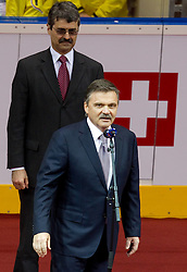 IIHF president Rene Fasel at opening ceremony prior to the ice-hockey match between Slovakia and Slovenia of Group A of IIHF 2011 World Championship Slovakia, on April 29, 2011 in Orange Arena, Bratislava, Slovakia. Slovakia defeated Slovenia 3-1. (Photo By Vid Ponikvar / Sportida.com)