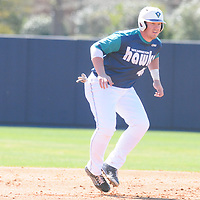 UNCW's Corey Dick leads off of second against Maryland Sunday March 8, 2015 at Brooks Field. (Jason A. Frizzelle)