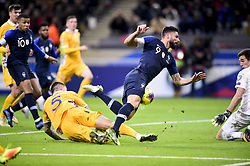 November 14, 2019, Paris, France, France: Olivier Giroud (Fra) vs Veaceslav Posmac  (Credit Image: © Panoramic via ZUMA Press)