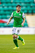 Lewis Stevenson (#16) of Hibernian FC during the Ladbrokes Scottish Premiership match between Hibernian FC and Aberdeen FC at Easter Road, Edinburgh, Scotland on 7 December 2019.