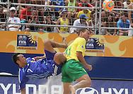 Footbal-FIFA Beach Soccer World Cup 2006 -  Oficial Games BRA x JPN Buru and Kawaharazukal- Brazil - 05/11/2006.<br />Mandatory Credit: FIFA/Ricardo Ayres