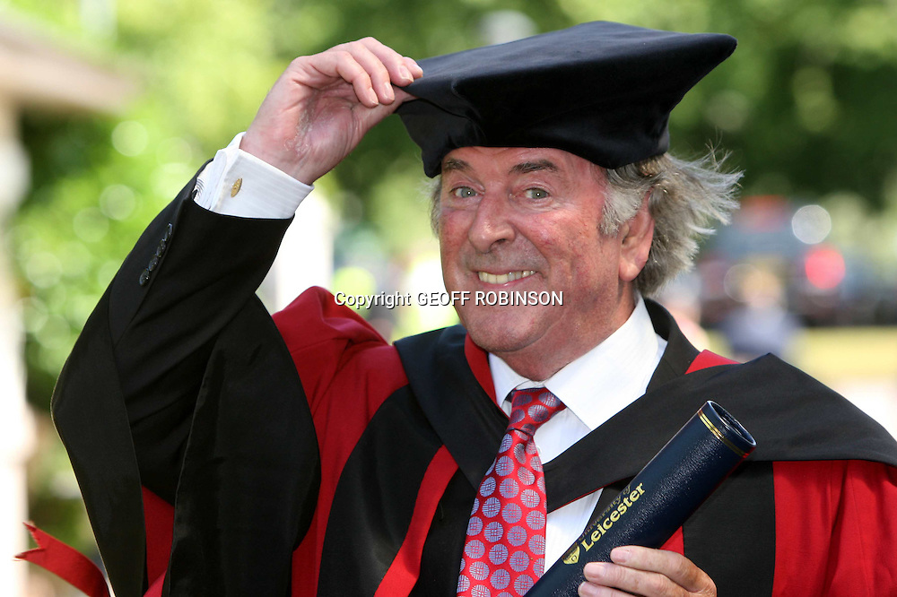 "SIR TERRY WOGAN AT THE UNIVERSITY OF LEICESTER ON FRIDAY AFTERNOON WHERE HE WAS AWARDED AN HONORARY DEGREE...Veteran broadcaster Sir Terry Wogan has received an honorary degree today (Fri) from the place he once called the ""Lost City.""..The 71-year-old, who retired from the weekday breakfast programme on BBC Radio 2 in December, was given an Honorary Doctor of Laws degree by the University of Leicester...In the 1980's the DJ famously dubbed Leicester the ""Lost City"" after it was frequently named on traffic bulletins due to motorway repairs...He has since visited the area several times and Leicester now hosts the annual TOGS Convention for regular listeners of his Radio 2 show, known as Terry's Old Geezers...""For many years my radio listeners and I conducted a fruitless search for the ""Lost City"" of Leicester,"" said Sir Terry...""The University of Leicester has been the generous and hospitable host for some years to me and my loyal listeners, for the three-day Mardi Gras that is the Togs (Terry's Old Geezers) convention..""What is memorable about Leicester is the kind of welcome you get from the University for the TOGs. That is why they keep coming back...""I would like to have been a student here - it looks like a really nice campus...SEE COPY CATCHLIN Terry Wogan gets degree"