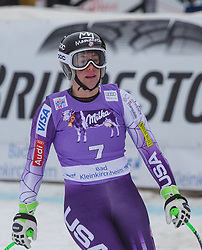 11.01.2015, Franz Klammer Weltcupstrecke, Bad Kleinkirchheim, AUT, FIS Ski Weltcup, Super G, Damen, im Bild Stacey Cook (USA) // Stacey Cook of the USA reacts in the finish Area after her run of ladie's SuperG of the Bad Kleinkirchheim FIS Ski Alpine World Cup at the Franz Klammer Course in Bad Kleinkirchheim, Austria on 2015/01/11. EXPA Pictures © 2015, PhotoCredit: EXPA/ Mag. Gert Steinthaler