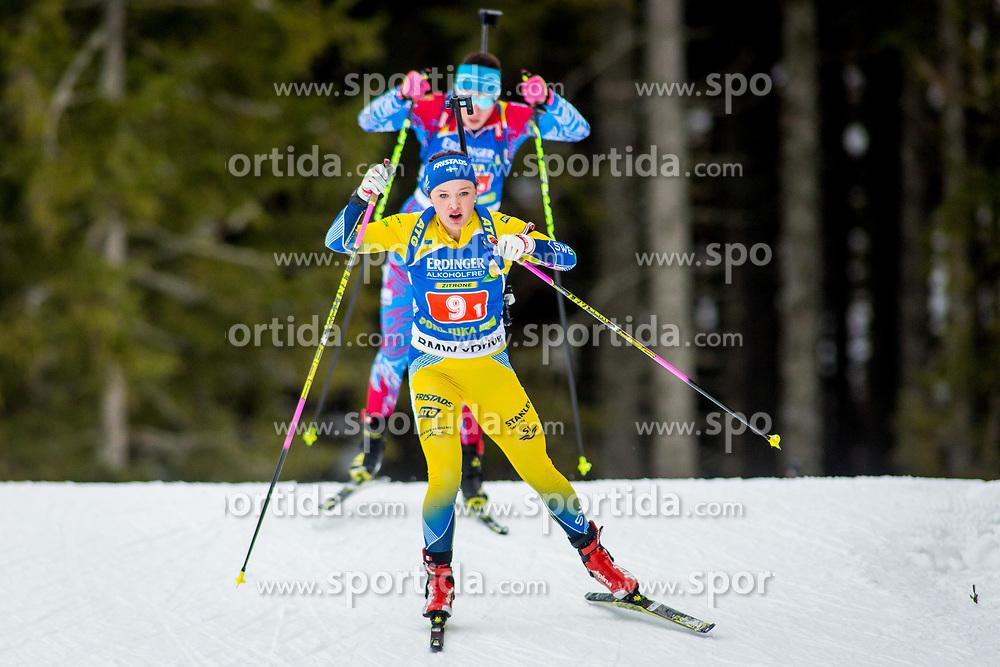 Linn Persson (SWE) during Single Mixed Relay at day 1 of IBU Biathlon World Cup 2018/19 Pokljuka, on December 2, 2018 in Rudno polje, Pokljuka, Pokljuka, Slovenia. Photo by Ziga Zupan / Sportida