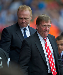 LIVERPOOL, ENGLAND - Saturday, April 23, 2011: Liverpool's manager Kenny Dalglish MBE before his side's Premiership match against Alex McLeish's Birmingham City at Anfield. (Photo by David Rawcliffe/Propaganda)