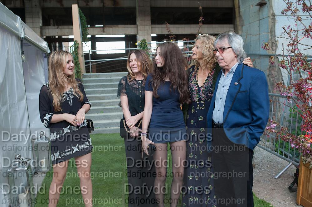 SARAH HODSALL; ISLA HODSALL; MATILDA WYMAN; SUZANNE WYMAN; BILL WYMAN, Gabrielle's Gala 2013 in aid of  Gabrielle's Angels Foundation UK , Battersea Power station. London. 2 May 2013.