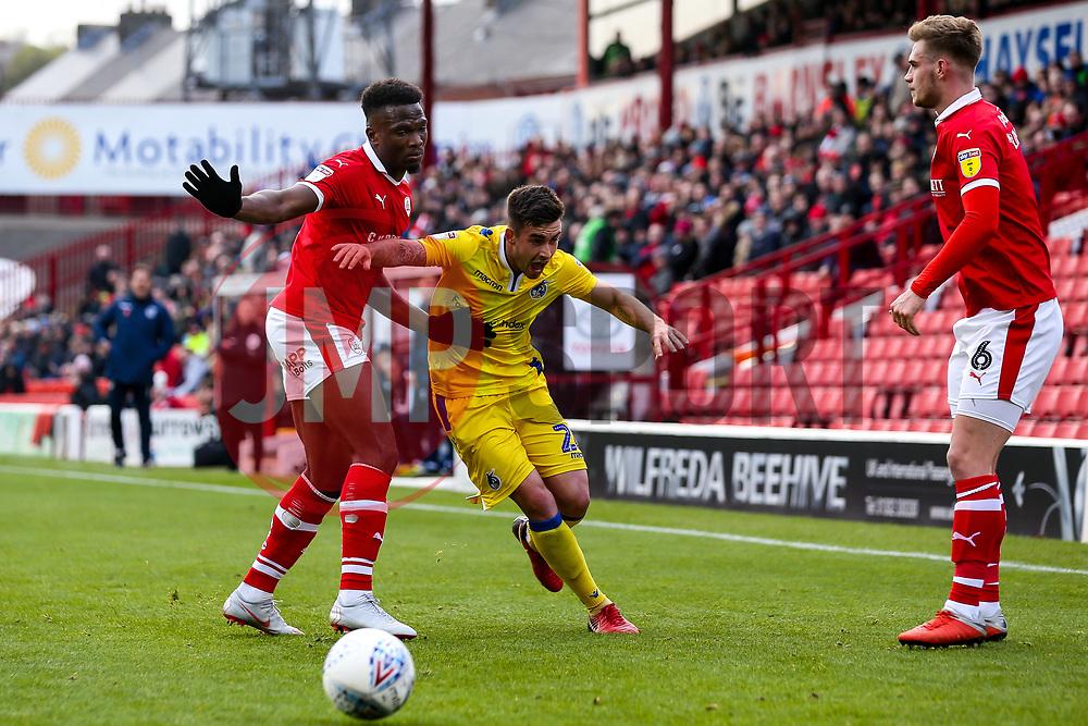 Michael Kelly of Bristol Rovers takes on Dimitri Cavare of Barnsley - Mandatory by-line: Robbie Stephenson/JMP - 27/10/2018 - FOOTBALL - Oakwell Stadium - Barnsley, England - Barnsley v Bristol Rovers - Sky Bet League One