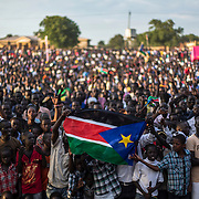 South Sudan celebrates its 2nd anniversary after gaining independence from Sudan in 2011, following over 30 years of conflict. <br /> <br /> South Sudan and Sudan's relations are still tense due to oil export issues