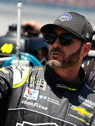 April 28, 2018 - Talladega, AL, U.S. - TALLADEGA, AL - APRIL 28: Jimmie Johnson, Hendrick Motorsports, Chevrolet Camaro Lowe's for Pros (48) during Qualifying for the 49th annual Geico 500 on Saturday April 28,2018 at Talladega Superspeedway in Talladega, Alabama (Photo by Jeff Robinson/Icon Sportswire) (Credit Image: © Jeff Robinson/Icon SMI via ZUMA Press)