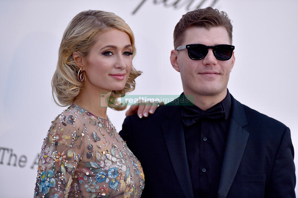Paris Hilton and Chris Zylka attend the 2018 amfAR Gala on May 17, 2018 in Cap D'Antibes, France. Photo by Lionel Hahn/ABACAPRESS.COM