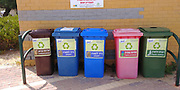 Waste Separation and recycling bins Photographed in Israel