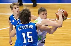 Gezim Morina of Slovenia during basketball match between National team of Slovenia and Italy in First Round of U20 Men European Championship Slovenia 2012, on July 12, 2012 in Domzale, Slovenia.  (Photo by Vid Ponikvar / Sportida.com)