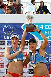 20140607 ITA: EK Beachvolleybal, Cagliari<br /> Marleen van Iersel en Madelein Meppelink winnen goud op het EK 2014<br /> ©2014-FotoHoogendoorn.nl / Pim Waslander