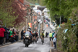 The chasing group climbs the Côte de Grosmont during the ASDA Tour de Yorkshire Women's Race 2019 - Stage 2, a 132 km road race from Bridlington to Scarborough, United Kingdom on May 4, 2019. Photo by Balint Hamvas/velofocus.com