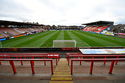 General view inside St James Park stadium before the EFL Sky Bet League 2 match between Exeter City and Grimsby Town FC at St James' Park, Exeter, England on 29 December 2018.