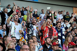Supporters cheer Japan on late in the game - Mandatory byline: Patrick Khachfe/JMP - 07966 386802 - 19/09/2015 - RUGBY UNION - Brighton Community Stadium - Brighton, England - South Africa v Japan - Rugby World Cup 2015 Pool B.