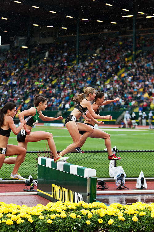 Higginson, Hall lead women's steeplechase over water pit