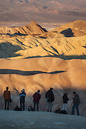 Photographers lined up for the shot at Zabriskie Point, Death Valley National Park, California
