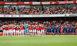 Players from Arsenal and Lyon pay their respects following the death of Jose Antonio Reyes - Mandatory by-line: Arron Gent/JMP - 28/07/2019 - FOOTBALL - Emirates Stadium - London, England - Arsenal v Olympique Lyonnais - Emirates Cup