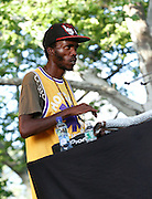 DJ Spoko performs at SummerStage on Rumsey Playfield in Central Park in New York City, New York on June 15, 2014.