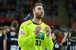 Andreas Wolff of Germany during handball match between National teams of Germany and Denmark on Day 4 in Main Round of Men's EHF EURO 2018, on January 21, 2018 in Arena Varazdin, Varazdin, Croatia. Photo by Mario Horvat / Sportida