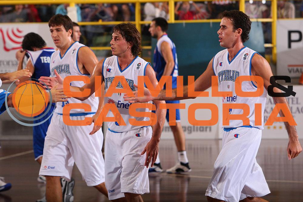 DESCRIZIONE : Cagliari Qualificazione Eurobasket 2009 Serbia Italia <br /> GIOCATORE : Team Italia <br /> SQUADRA : Nazionale Italia Uomini <br /> EVENTO : Raduno Collegiale Nazionale Maschile <br /> GARA : Serbia Italia Serbia Italy <br /> DATA : 20/08/2008 <br /> CATEGORIA : Esultanza <br /> SPORT : Pallacanestro <br /> AUTORE : Agenzia Ciamillo-Castoria/S.Silvestri <br /> Galleria : Fip Nazionali 2008 <br /> Fotonotizia : Cagliari Qualificazione Eurobasket 2009 Serbia Italia <br /> Predefinita :