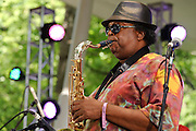 Photos of the New Orleans Brass Band performing at The Great GoogaMooga festival at Prospect Park in Brooklyn, NY. May 20, 2012. Copyright © 2012 Matthew Eisman. All Rights Reserved.