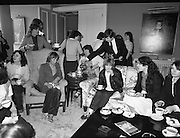 Galway Travellers Visit U.S.Embassy.    (N67)..1981..01.04.1981..04.01.1981..1st April 1981..Elizabeth,the wife of American Ambassador Mr William Shannon,invited a group of Galway travellers to afternoon tea at the residence in Phoenix Park, Dublin...Image shows the ladies enjoying the delights of afternoon tea at the U S Ambassadors residence.