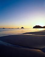 Sunrise at Hahei Beach, Coromandel Peninsula, north island, New Zealand. 1999
