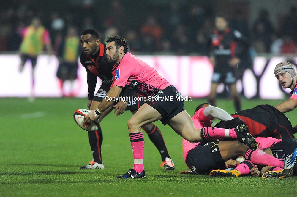 Julien Tomas - 02.01.2015 - Lyon OU / Stade Francais - 15eme journee de Top 14 <br />Photo : Jean Paul Thomas / Icon Sport
