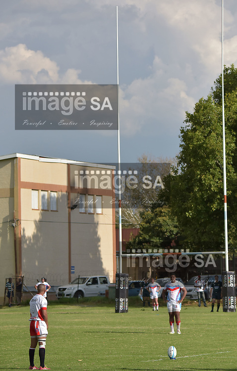 WELKOM, SOUTH AFRICA - Saturday 14 March 2015, Dashton Wellman Scrumhalf of Wesbank Boland during the fourth round match of the Cell C Community Cup between Rovers Welkom and Wesbank at Rovers Rugby Club, Welkom.  <br /> Photo by Charl Devenish/ImageSA/SARU