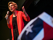 25 APRIL 2019 - CEDAR RAPIDS, IOWA: US Sen. ELIZABETH WARREN (D MA) gives a campaign speech at the Linn Phoenix Club in Cedar Rapids. The Linn Phoenix Club is an organization that promotes Democratic candidates in Linn County, Iowa. Sen. Warren is campaigning in eastern Iowa Thursday night and Friday to promote her bid to the Democratic candidate for the US Presidency. Iowa traditionally hosts the the first selection event of the presidential election cycle. The Iowa Caucuses will be on Feb. 3, 2020.           PHOTO BY JACK KURTZ