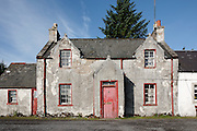 Facade of House on Mitchell Place, Wanlockhead, Southern Uplands, Scotland
