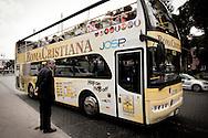 Roma  29.04.2011 - Beatificazione di Papa Giovanni Paolo II. Roma si prepara ad accogliere le migliaia di fedeli che parteciperanno alla beatificazione di Papa Wojtyla..Nella Foto: Autobus turistici dedicati all'evento..Photo by Giovanni Marino