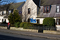Pictured: It has to be Yes.<br /> <br /> No doubting which way the owners of this house will be voting following the announcement of a second Scottish Independence referendum sometime between Autumn 2019 and Spring 2019.<br /> <br /> <br /> Ger Harley   EEm 14 march 2017