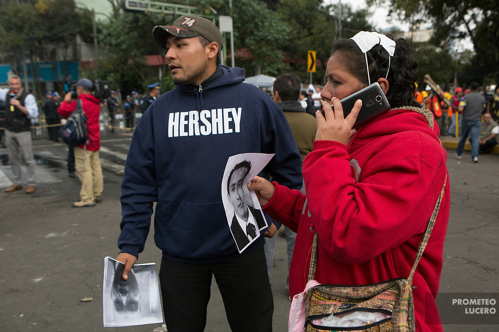 Familiares de personas desaparecidas. Alvaro Obregón 286, Ciudad de México. 21 de septiembre de 2017  (Foto: Prometeo Lucero)