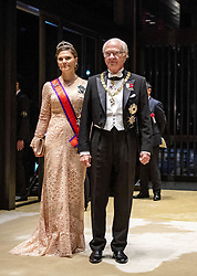 October 22, 2019, Tokyo, JAPAN: 22-10-2019 Gala Royals arrive at the Imperial Palace for the Court Banquets, the 'Kyoen-no-gi' banquet, after the ceremony of the enthronement of Emperor Naruhito in Tokyo, Japan Princess Victoria and King Carl Gustaf. (Credit Image: © face to face via ZUMA Press)