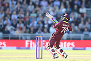Devendra Bishoo during the One Day International match between England and West Indies at Old Trafford, Manchester, England on 19 September 2017. Photo by George Franks.