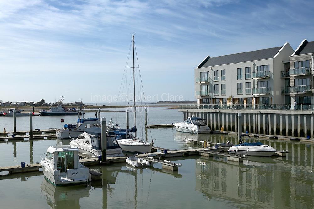 UK England Essex Brightlingsea Waterside Marina view