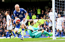 Everton's Steven Naismith celebrates after scoring the opening goal   - Mandatory byline: Matt McNulty/JMP - 07966386802 - 12/09/2015 - FOOTBALL - Goodison Park -Everton,England - Everton v Chelsea - Barclays Premier League
