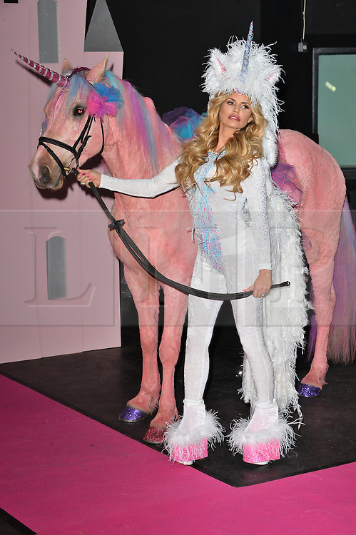 © Licensed to London News Pictures. 27/04/2016. KATIE PRICE launches her new ITV series 'PONY CLUB' with her eight year old daughter PRINCESS and ten year old son Junior. London, UK. Photo credit: Ray Tang/LNP