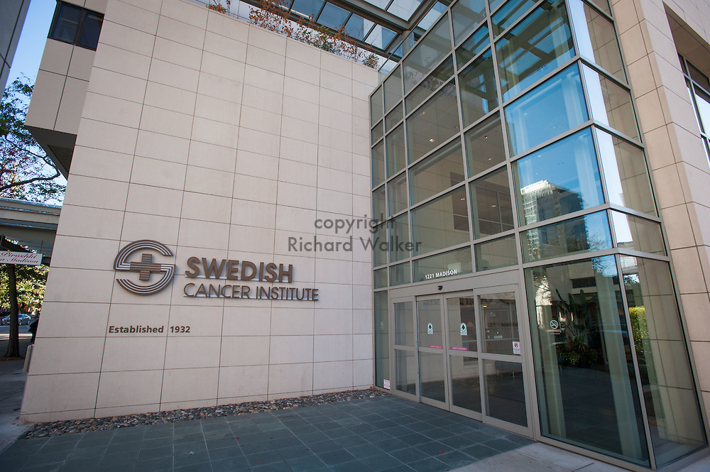 2016 October 11 - Swedish Cancer Institute Entrance on Madison Street, First Hill, Seattle, WA, USA. By Richard Walker