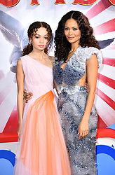 Nico Parker and Thandie Newton (right) attending the European premiere of Dumbo held at Curzon Mayfair, London.