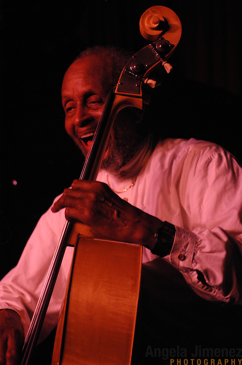 Bassist Percy Heath performs with The Heath Brothers at the Village Vanguard in Manhattan on April 1, 2003.