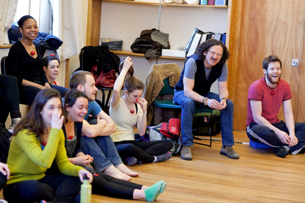 The Taft School, New Haven, CT. 2011-2012. Taft Alumni Chris Bayes teaches a comedy class at Yale University.  (Photo by Robert Falcetti). .