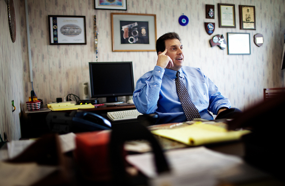 Special Agent Anthony Marotta of the DEA in his office in Columbus, OH on Thursday, April 9, 2009. The DEA have noticed an increasing number of Mexican cartels setting up small cells to traffic and distribute narcotics, primarily heroin, in Columbus, Ohio. Columbus has become a hub for narcotics trafficking as it lies between Chicago and the eastern seaboard.