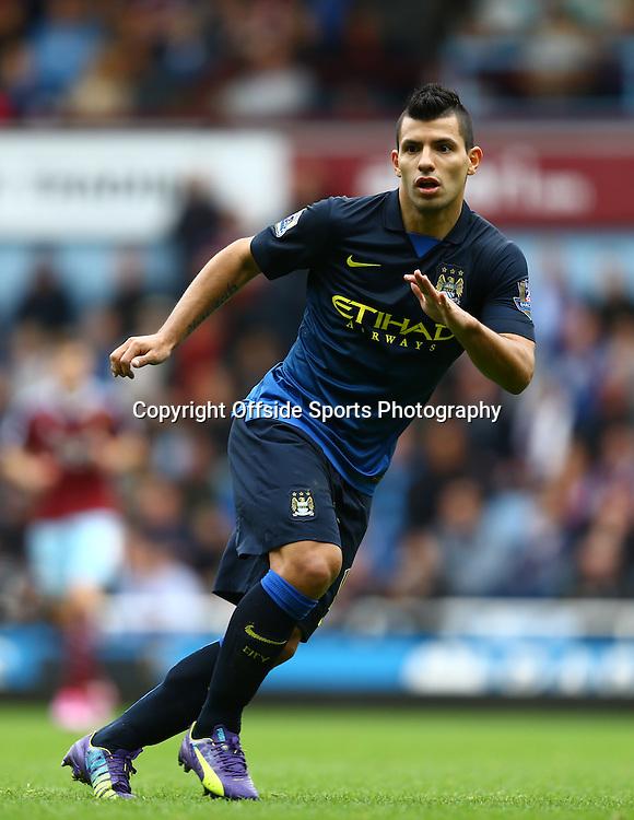 25 October 2014 - Barclays Premier League - West Ham v Manchester City - Sergio Aguero of Manchester City - Photo: Marc Atkins / Offside.