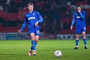 AFC Wimbledon midfielder Max Sanders (23) during the The FA Cup match between Doncaster Rovers and AFC Wimbledon at the Keepmoat Stadium, Doncaster, England on 19 November 2019.