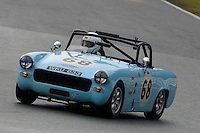 #68 Hunting / Fowler MG Midget 1380 during the CSCC Adams and Page Swinging Sixties at Oulton Park, Little Budworth, Cheshire, United Kingdom. October 15 2016. World Copyright Peter Taylor/PSP. <br /> Copy of publication required for printed pictures.  Every used picture is fee-liable. http://archive.petertaylor-photographic.co.uk